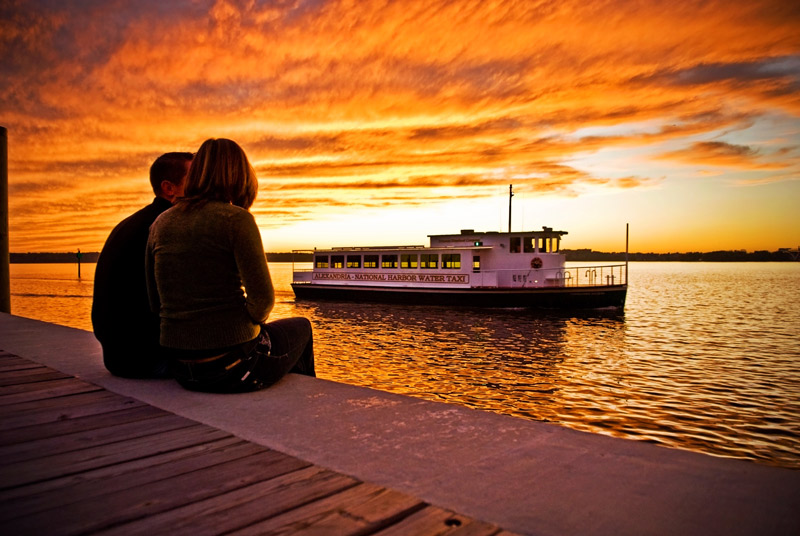 Sunset at National Harbor - Things to do on the waterfront in Maryland