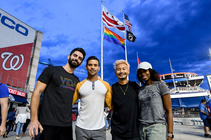 Nationals fans at Nationals Night Out - LGBTQ-focused event this summer in Washington, DC