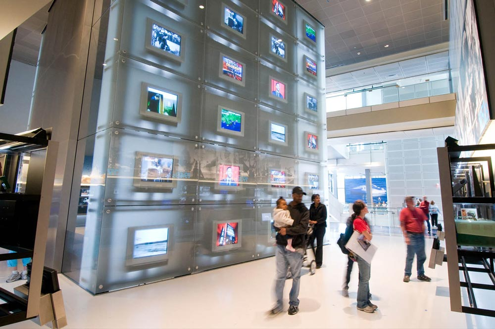 Bloomberg Internet, TV and Radio Gallery at the Newseum - Museums in Washington, DC