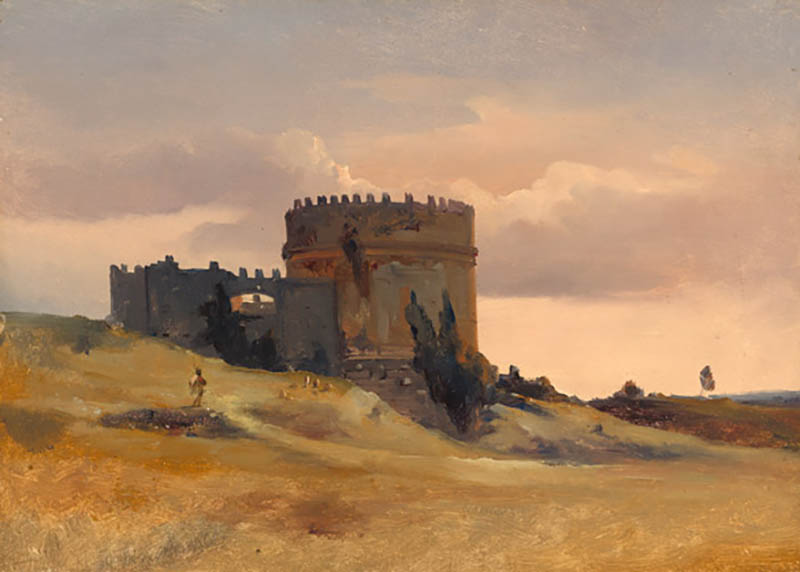 Léon-François-Antoine Fleury, The Tomb of Caecilia Metella, c. 1830, oil on canvas, National Gallery of Art, Washington, Gift of Frank Anderson Trapp, 2004.166.16