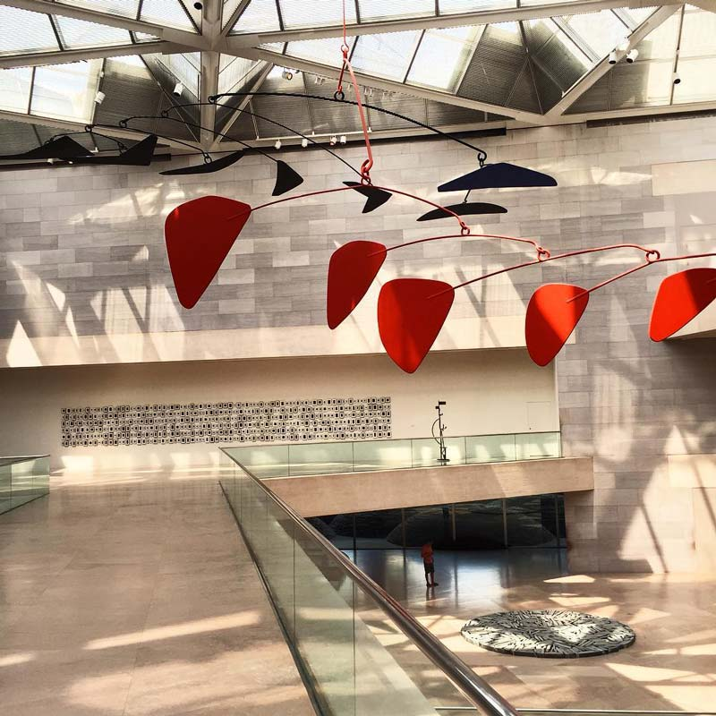@nickmconner - Alexander Calder mobile at National Gallery of Art East Building - Free museum on the National Mall