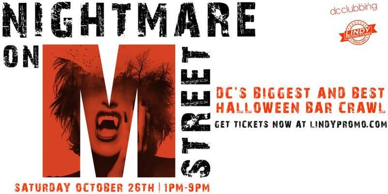Nightmare on M Street 2019 - Halloween bar crawl in Washington, DC
