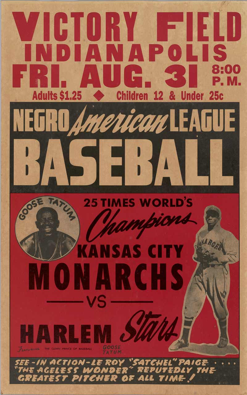 Baseball poster at National Museum of African American History and Culture's Sports exhibit - Baseball in Washington, DC