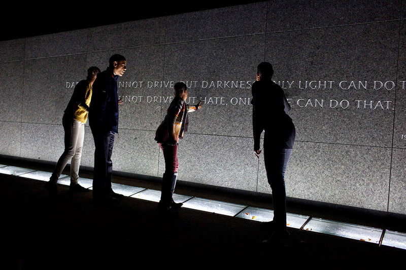 President Obama & the First Family at the Martin Luther King, Jr. Memorial - National Mall - Washington, DC