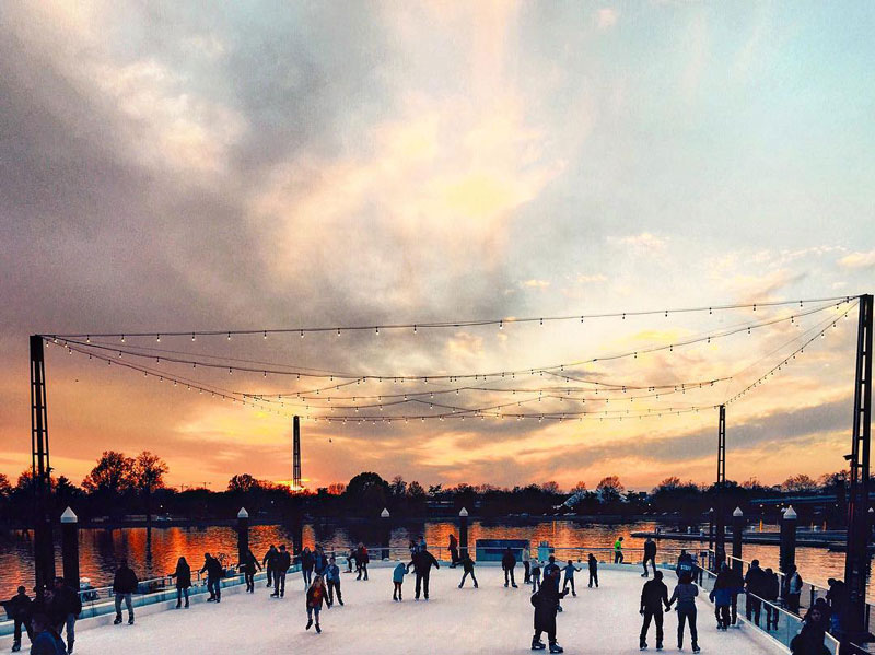@oshannon21 - Ice Skating at the The Wharf on the Southwest Waterfront -  The Best
