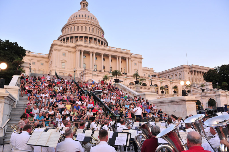Free Outdoor Concert at the United States Capitol - U.S. Army Band Concert in Washington, DC