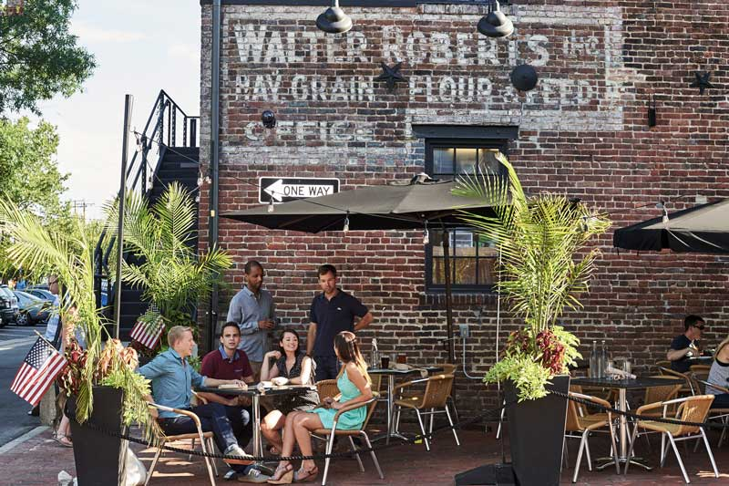 Outdoor dining in Old Town Alexandria - Things to do on the waterfront near Washington, DC