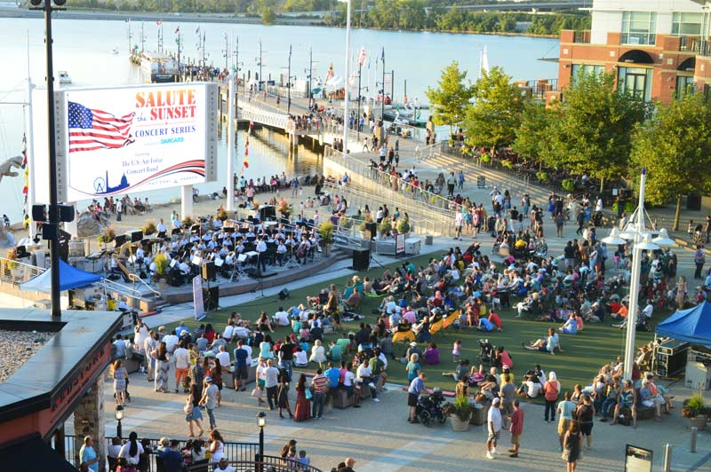 Outdoor concert series at National Harbor - Summer waterfront activities near Washington, DC
