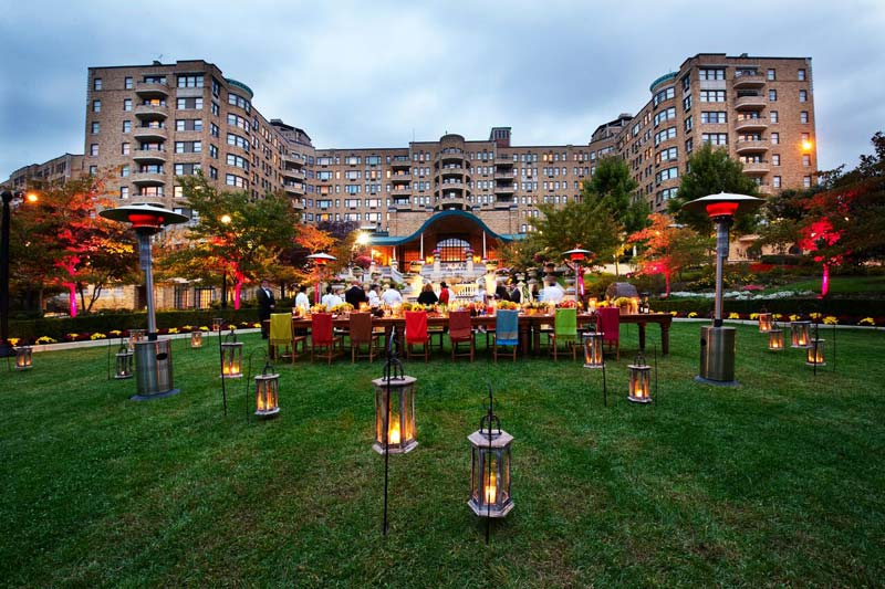 Outdoor event at the Omni Shoreham Hotel - Great outside meeting and event spaces in Washington, DC