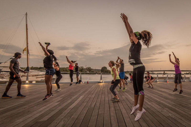 Outdoor fitness on the Capitol Riverfront - Free outdoor activities in Washington, DC
