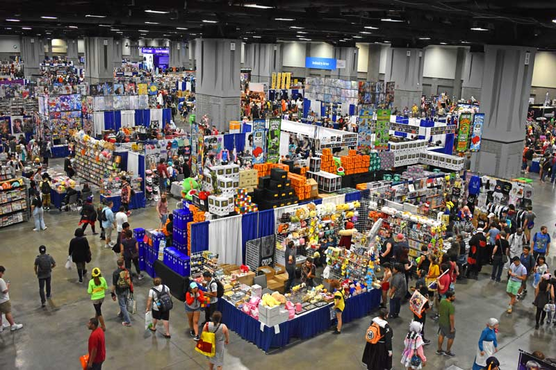 Art marketplace at Otakon anime and cosplay festival in Washington, DC