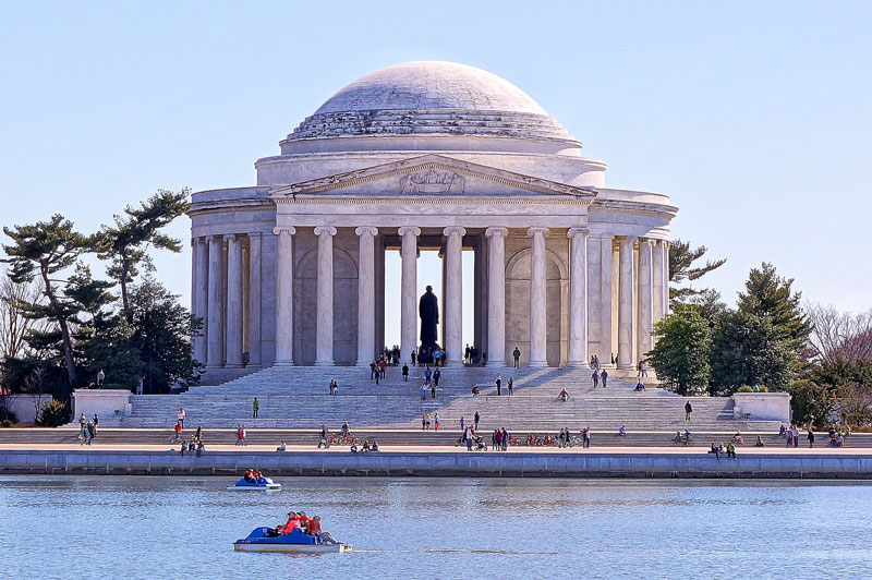 Tidal Basin Jefferson Memorial Paddle Boats - Washington, DC