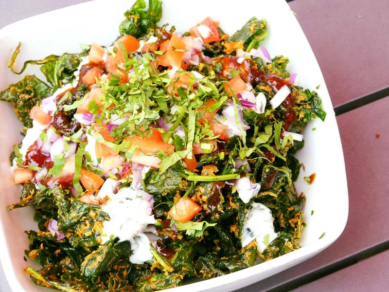 Palak Chaat at Vikram Sunderam's Rasika West End Indian restaurant - Dishes in DC you have to try