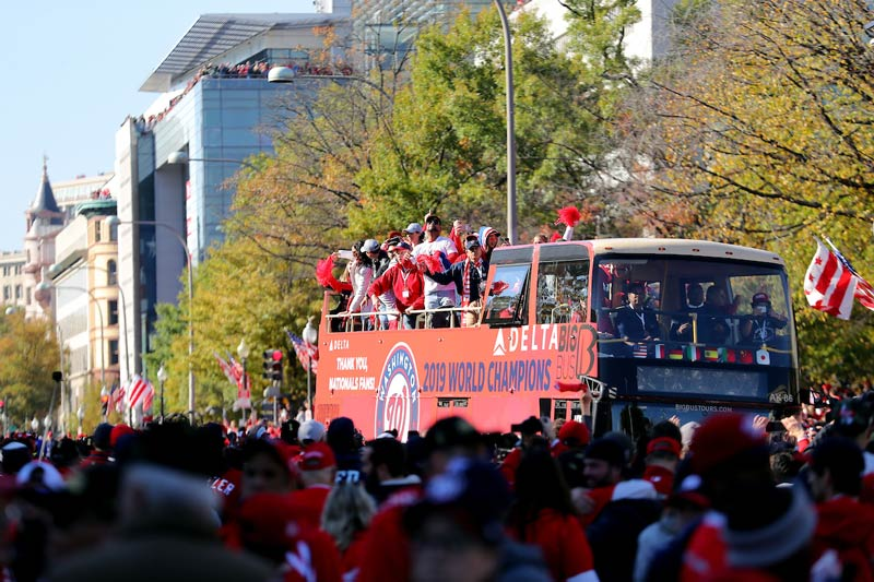 Washington Nationals Parade Bus