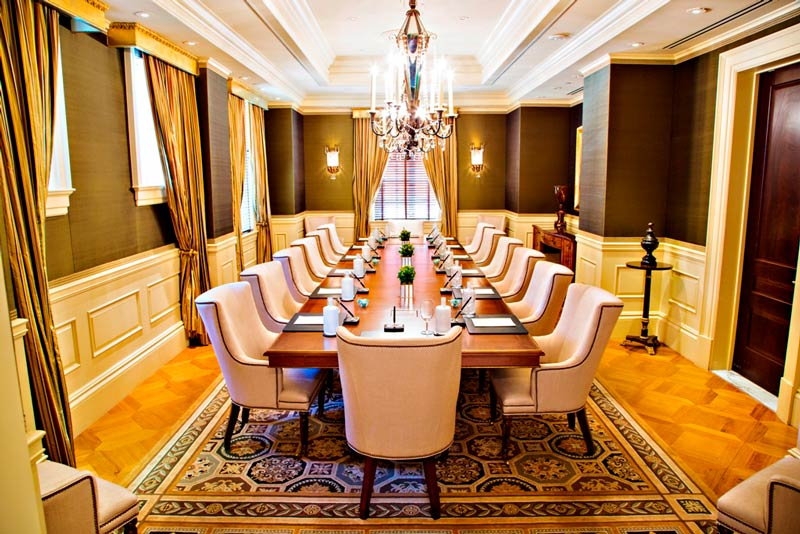 Parlor Boardroom at The Jefferson hotel in downtown - Elegant meeting space in Washington, DC