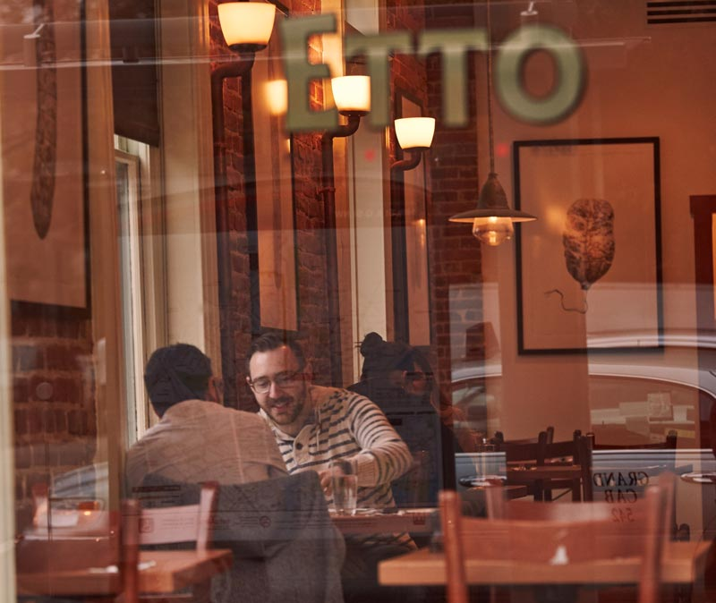 Diners at Etto on 14th Street - Cozy Pizza Restaurant in Washington, DC
