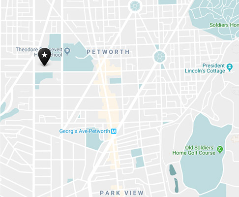 Petworth neighborhood map