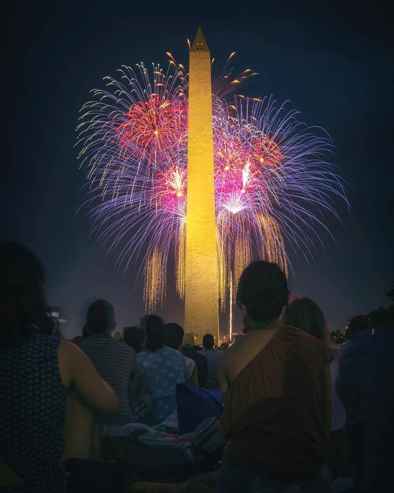 @photoartbyjjy - Fourth of July fireworks over the National Mall and Washington Monument - Where to watch fireworks in Washington, DC