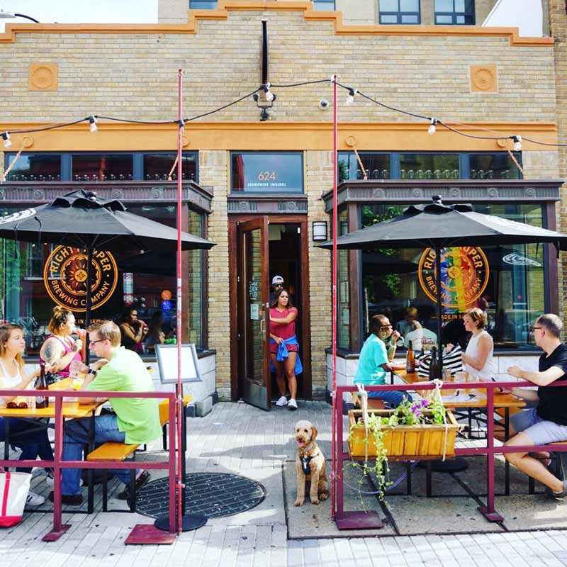 @piper.bee - Patio at Right Proper Brewing Company Shaw Brewpub & Kitchen - Best restaurant patios in Washington, DC