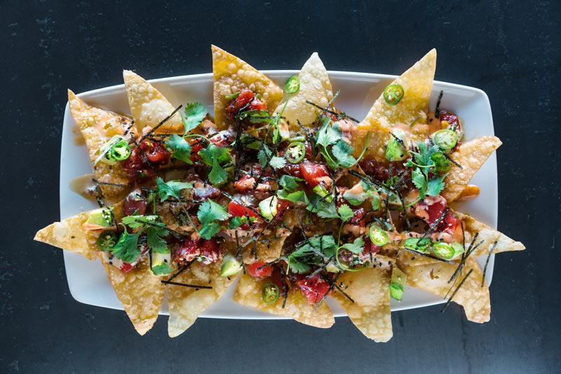 Poke nachos from Yard House in Chinatown - Summer food trends in Washington, DC