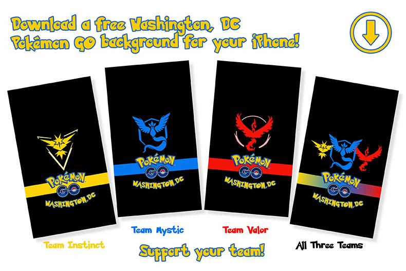 Download Your Pokémon Go Faction Phone Wallpaper