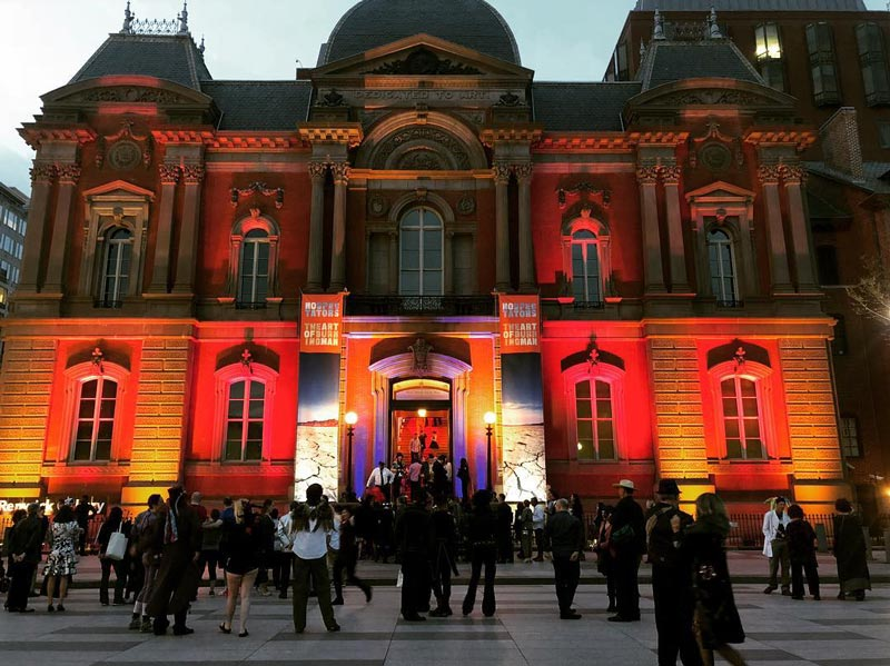 @pradook8 - Visitors outside Smithsonian Renwick Gallery in Washington, DC - No Spectators: The Art of Burning Man Exhibit