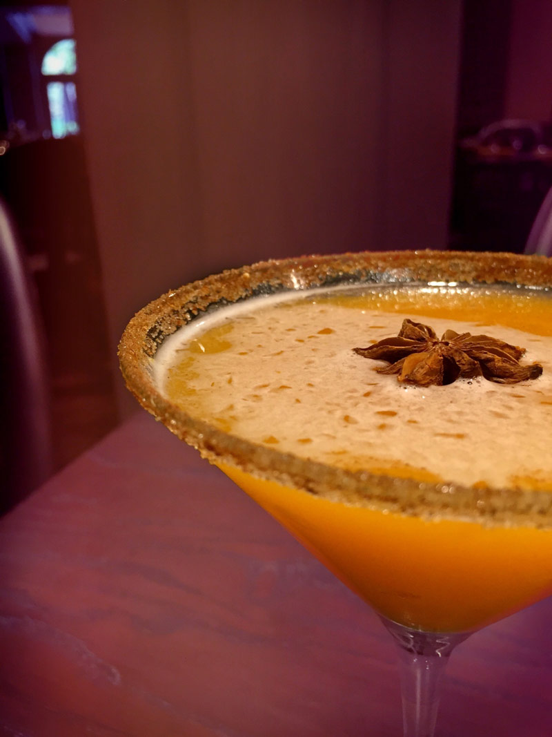 Pumpkin spiced martini at Jardenea at the Melrose Georgetown Hotel - Fall flavors and drinks in Washington, DC