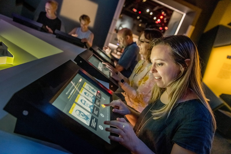 Interactive exhibit at the International Spy Museum - Kid-friendly museums in Washington, DC