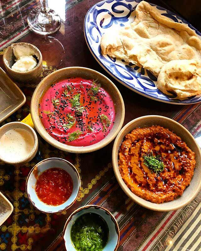 @reneedcre - Dips and spreads at Maydan near 14th Street - Hot restaurants in Washington, DC
