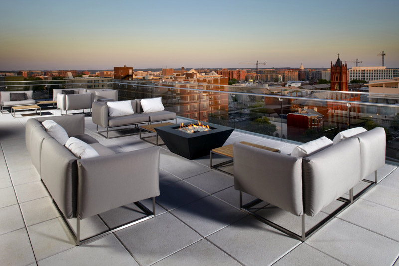Rooftop view of DC's Shaw neighborhood from Cambria Suites - Rooftop meeting venues in Washington, DC