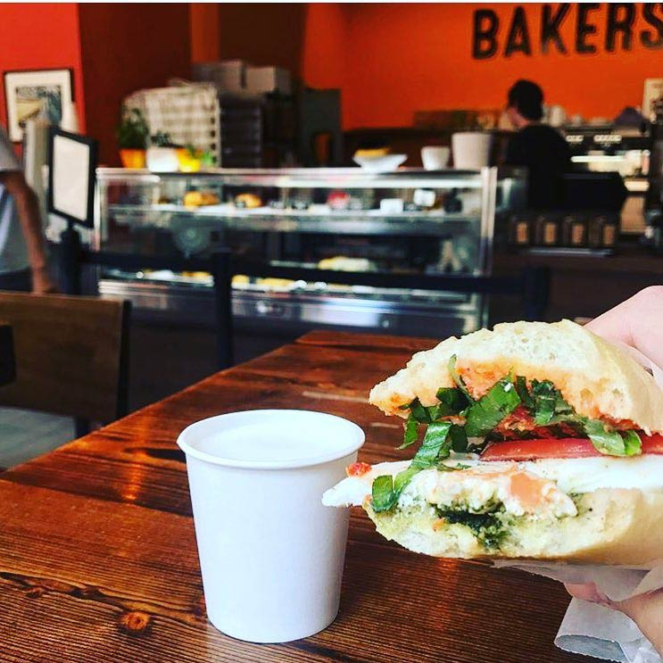 Sandwich from Bakers and Baristas in Chinatown - Breakfast and coffee shops near the convention center in DC