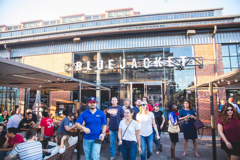 Scene outside Bluejacket Brewery on the Capitol Riverfront - Breweries in Washington, DC