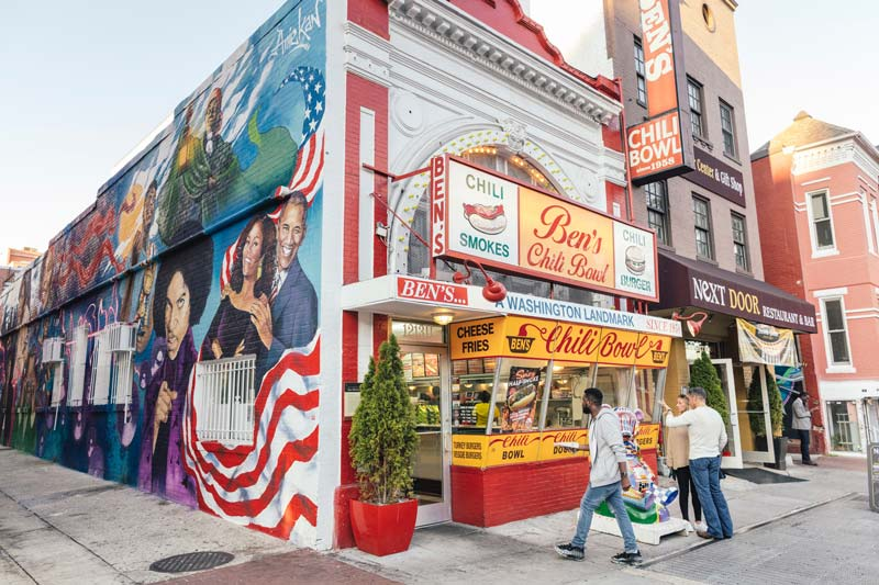 Ben's Chili Bowl in DC's U Street neighborhood - Where to enjoy all-American eats in Washington, DC