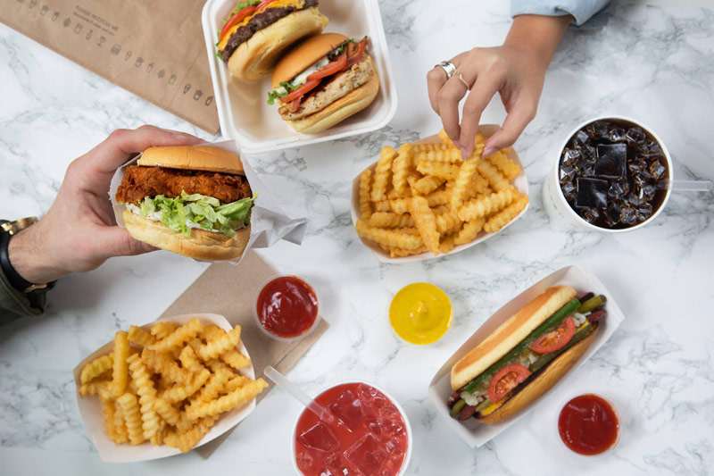 Burgers and fries from Shake Shack - Fast-casual, affordable places to eat in Washington, DC
