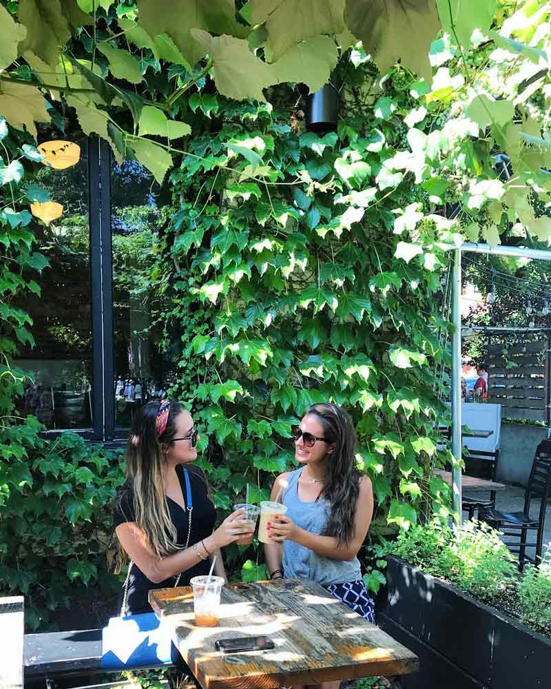 @sister.stems - Guests on the patio at Big Bear Cafe in Bloomingdale - Where to eat and drink in DC's Bloomingdale neighborhood