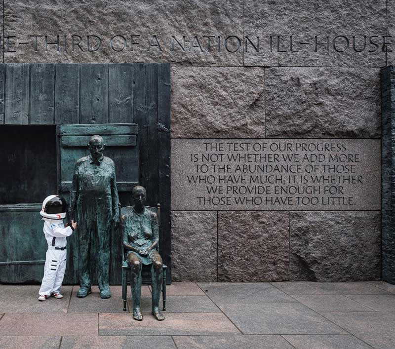 @smallstepsaregiantleaps - Franklin Delano Roosevelt Memorial on the National Mall - Memorials in Washington, DC