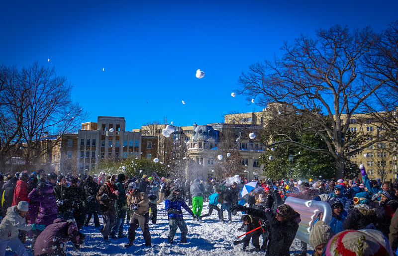 Snowball Fight in Washington, DC - Things to Do This Winter