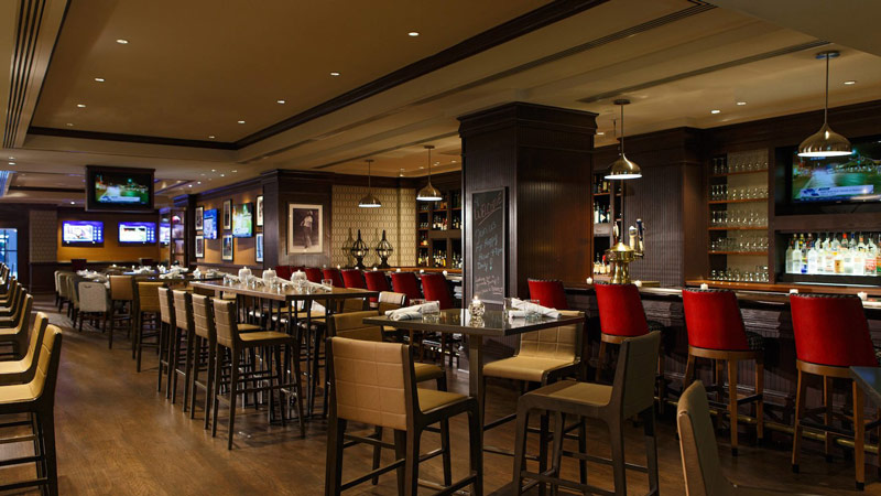 Sports bar at the Renaissance Washington, DC Downtown Hotel - Top hotels for sports fans in DC