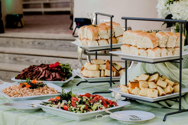 Spread from Geppetto Catering - Sustainable, eco-friendly catering companies in Washington, DC