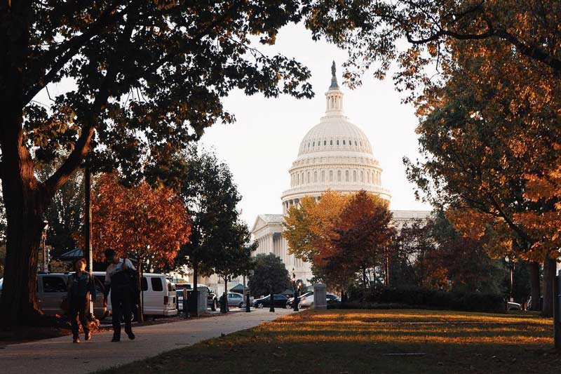 @ssargeant - Fall foliage in front of the United States Capitol - Landmarks in Washington, DC