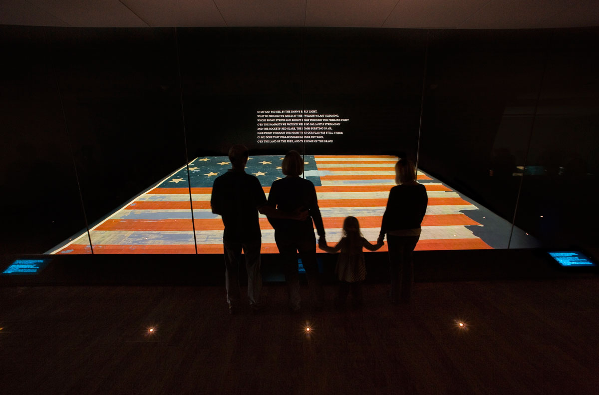 Star Spangled Banner Exhibit at Smithsonian National Museum of American History - Washington, DC