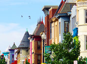 Colorful Storefronts in Adams Morgan Neighborhood