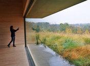 @ambarella - View of fall foliage from the Glenstone Museum - Free museum near Washington, DC