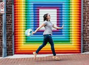 @beautifulpaper - 'LOVE' mural in Shaw's Blagden Alley - Colorful things to do in Washington, DC