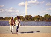 Couple at Jefferson Memorial - Romantic Spots in Washington, DC