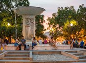 Dupont Circle Fountain at Night - Things to Do in Washington, DC's Neighborhoods