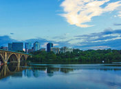 @e7y6 - View of Arlington skyline and Key Bridge from Georgetown waterfront - Waterfronts in Washington, DC