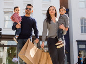 Family shopping in Georgetown - Washington, DC