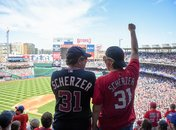 Washington Nationals fans cheering at baseball game - The best things to do this spring and summer in Washington, DC