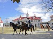 George Washington on horseback at George Washington's Mount Vernon - Historic landmark near Washington, DC